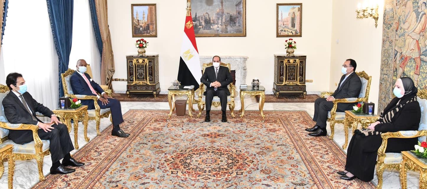 السيسى يؤكد دعم مصر الكامل لأنشطة اتفاقية التجارة الحرة القارية